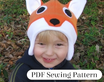 Fleece Fox Hat - PDF Sewing Pattern - Woodland Animal Costume