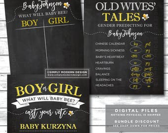 gender reveal party sign, old wives tales, cast your vote, bee theme, what will baby bee, bee gender reveal, PRINTABLE, DIGITAL FILE