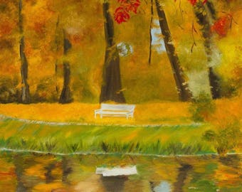 """Color reflection in water 18"""" by 24"""""""