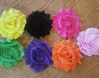 Shabby Flower Clips, Headband Clips