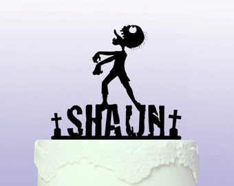 Personalised Zombie Cake Topper