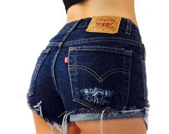 Levis Shorts - High Waisted Cutoffs Denim Cheeky - All Sizes xs s m l xl xxl
