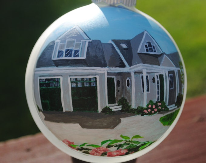 Custom Hand Painted Home Ornament for a Unique house warming or special occasion -sold