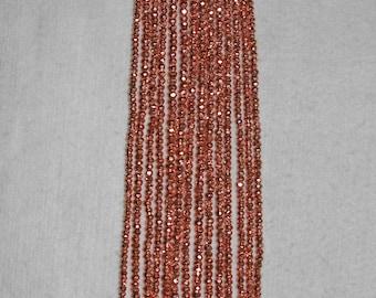 Pyrite, Pyrite Bead, 3.5 mm, Copper Coated Bead, Faceted Bead, Copper Bead, Natural Stone, Semi Precious Bead, Full Strand, AdrianasBeads