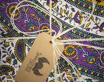 Custom Hand -Dyed Indian Tapestry Quilts Hippie Bohemian Floral Paisley