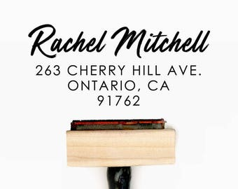 Custom Personalized Return Address Pre-Designed Rubber Stamp - Branding, Packaging, Invitations, Party, Wedding Favors - A015