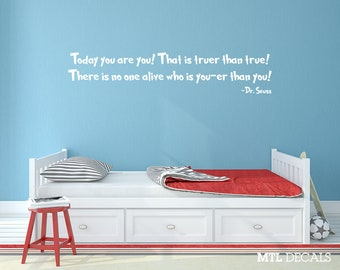 Dr Seuss, Wall Decal, Wall Quote, Sticker, Kid's Room Decor