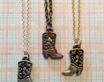 SALE - CLEARANCE - Boot Necklace - Boot Jewelry - Western Jewelry - Country Wedding - Western Necklace - Boot Jewlery - Cowboy Boot Necklace