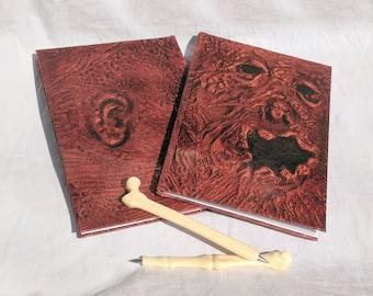 Necronomicon notebook and bone pen