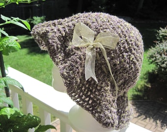 Crochet hat, crocheted hat, hat for girl, hat for women, fashion hat, hats, gift for her - mixture of purple/olive (H14)