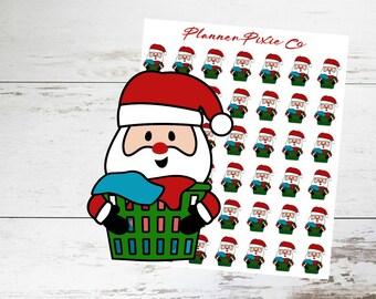 Santa Planner Stickers // Christmas // Laundry // Housework