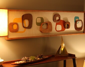 Mid Century Modern Witco Abstract Wall Art Sculpture Painting Atomic Retro Eames Era Mad Men