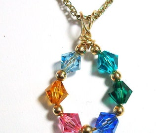 Birthstone Pendant - Mothers' Pendant Custom Made