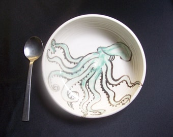 octopus cereal or ice cream bowl