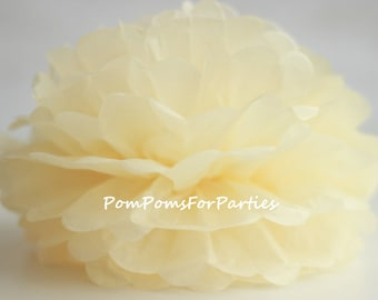 1 High Quality CREME Tissue Pom Pom - Choose any of 50 colours - Hanging  Paper flower - Tissue paper balls - Tissue paper pom poms