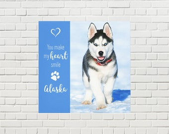 Pet Memorial Canvas 05YMMHS - Pet Photo Canvas - Dog Canvas - Pet Memorial - Pet Portrait  - Custom Photo Canvas - Dog Memorial - Pet Loss