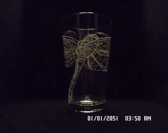 Dragonfly Series Pint Glasses Set of Two