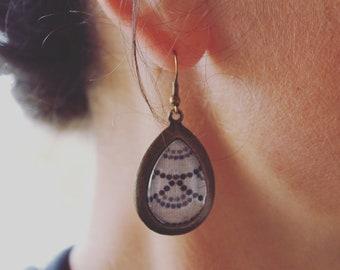 Boucles d'oreille géométrique