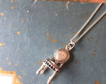 quirky chair necklace pendant, gift for your funky friend