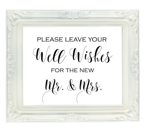 Wedding Guest Book Where It S Your Guests That Sign Their: Well Wishes For The New Mr. & Mrs. Sign Wedding Guest Book