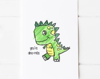 You'te Dino-mite Postcard Print