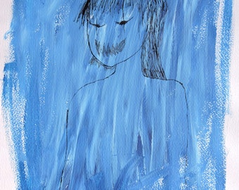 A4 Painting: The Monster In Blue