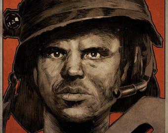 ALIENS - Private Hudson movie poster full colour art print (Bill Paxton)
