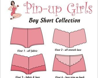 The BOY SHORTS PATTERN  by Pin Up Girls