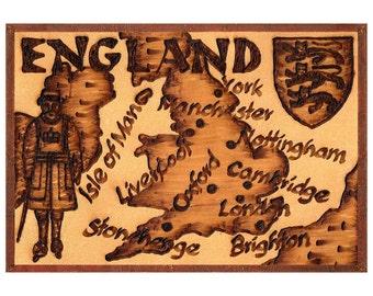 ENGLAND - Handmade Leather Journal / Sketchbook - Natural