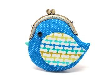 Besace sacoche de mignon océan oiseau bleu