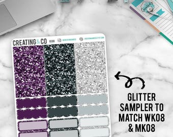 Faux Glitter Functional Sampler to match Always - GS08