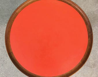 Hans Andersen | Teak Pedestal Side Table | Danish Modern