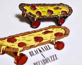 Pizza Deck Pin - pin - pizza pin - lapel pin - skateboard - skateboard pin - lapels - pins - pepperoni pizza