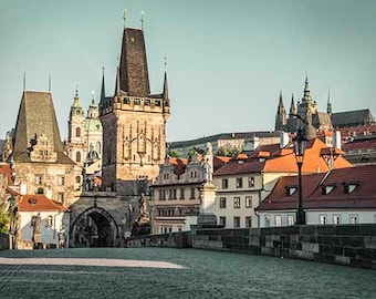 Prague Print, Prague Gift, Charles Bridge, Prague Poster, Old Town, Gothic Architecture, Travel Print