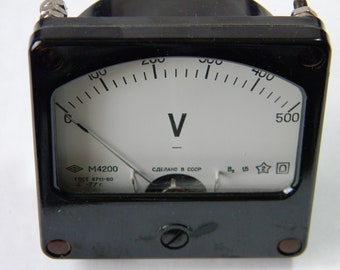 Vintage Voltmeter USSR 1977 Collectible Measuring Device Steampunk Decor Industrial
