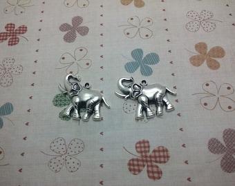 20pcs 32x31x5mm elephant Antique Silver Retro Pendant Charm For Jewelry Pendant