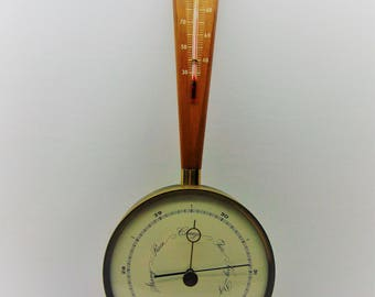Vintage Airguide Barometer Thermometer  Weather Station
