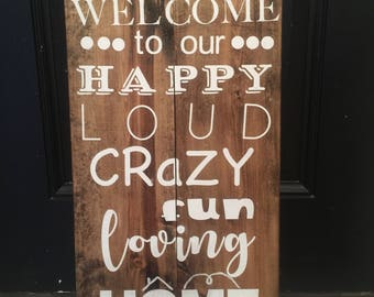 Welcome Home hand painted sign