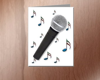 Singer's - Microphone Note Cards