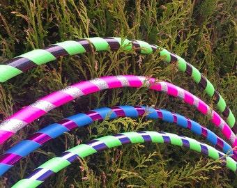 Custom Glitter Hula Hoop | Intermediate | 20mm Piping | Dance | Collapsible