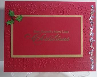 Holly and Sparkle Christmas Card