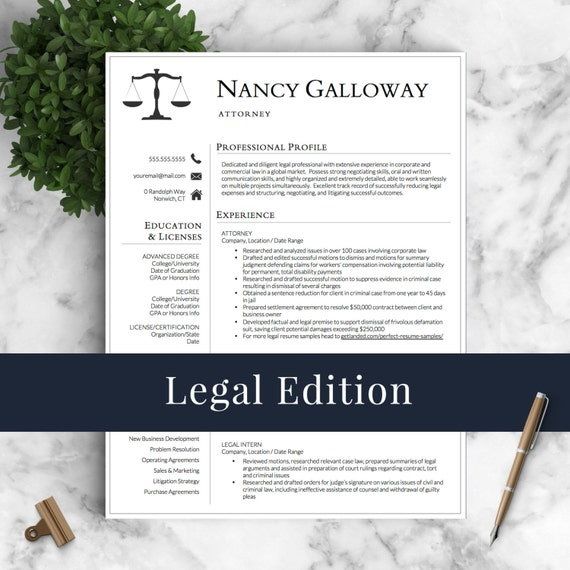 Legal Resume Template For Word Pages Lawyer Resume
