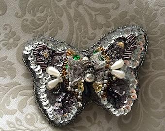 Handmade brooch Butterfly, Brosche, brooch