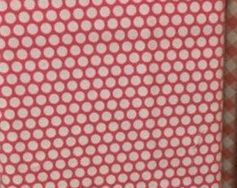 Hot Pink and White Dot Flannel