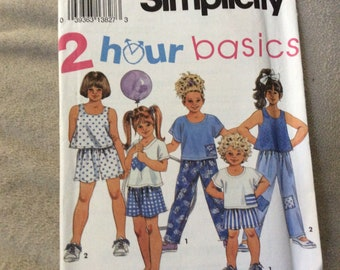 Simplicity pattern #8315 children's 2 hour basic separates size 5-6X