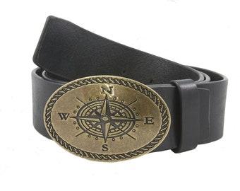 Belt leather pink of twenty brass