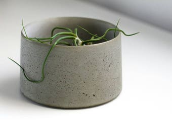 Concrete Planter for Succulents and Cactus - Natural Gray