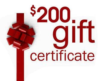 Gift Certificate, Anything Photos Custom Personalized Artwork, Gift Card, 200 dollar value