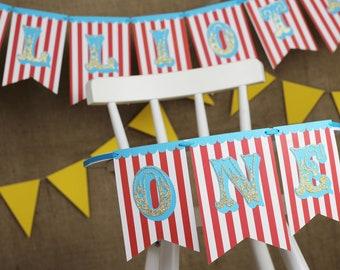 Carnival High Chair Banner | Circus Birthday | First Birthday