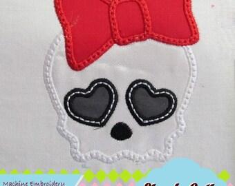 Skull Girly Cherry Cupcake MACHINE EMBROIDERY / INSTANT